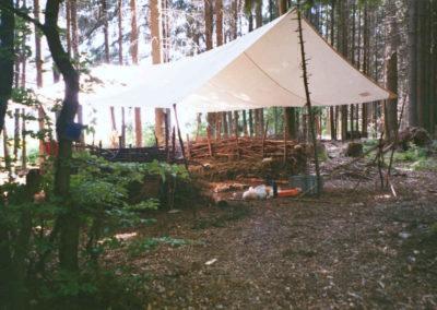Impressionen Natur Pur Wildniscamp Lagerplatz im Wald